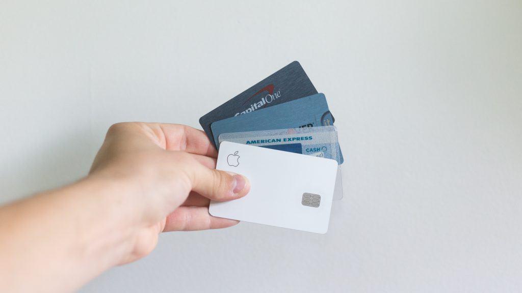 Holding credir cards